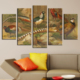 Casa De Arte Kuş 5 Parça Kanvas Tablo