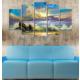 Casa De Arte 5 Parça Kanvas Tablo Deniz Güneş