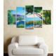 Casa De Arte 5 Parça Kanvas Tablo Sahil Koy Manzara