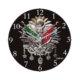 Cadran Bombeli Cam Duvar Saati Osmanlı Devlet Nişanı 110-15