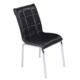 Mavi Mobilya Sandalye Siyah Suni Deri (6 Adet)