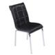 Mavi Mobilya Sandalye Siyah Suni Deri (4 Adet)