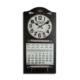 Vitale Askılı Takvimli Siyah Saat