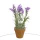 Vitale Yapay Çiçek Saksıda Mor Bonzaı