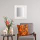 Carven Dekoratif Motifli Dikdörtgen Ayna Çatlak Beyaz