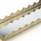 Porio Altın Orta Boy Aynalı Tepsi 35*12