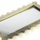 Porio Altın Büyük Boy Aynalı Tepsi 37*19