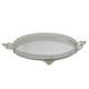 Cosiness Büyük Boy Yuvarlak Gümüş Yaldız Motifli Aynalı Tepsi2