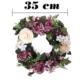 Yedifil Küçük Kapı Çelengi Krem Yapay Çiçek