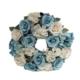 Yedifil Büyük Kapı Çelengi Mavi Beyaz Yapay Çiçek