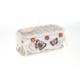 Hasır, Kapaklı Eskitilmiş Beyaz Sepet, Kahverengi Kelebekli, Küçük