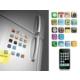 Toptancı Kapında İphone Teması Buzdolabı Magnetleri (18 Parça)