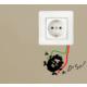 Dekorjinal Duvar Sticker Priz - Kst09