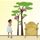 Dekorjinal Yeşil Ağaç Çocuk Sticker - Cc40
