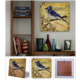 Oscar Stone Kuş Doğal Taş Tablo - 20X20 Cm