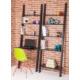 Colors Home Merdiven Kitaplık & Masa Seti - Siyah