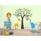 Dekorjinal Baykuş Maymun Çocuk Sticker - Cc15