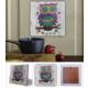 Oscar Stone Renkli Baykuş Doğal Taş Tablo - 20X20 Cm
