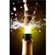 Pırıltı Vizyon Dökülen Şampanya Tablosu
