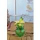 Gold Case Yeşil Cam Vazolu Çiçek Demeti Sarı Bymst109
