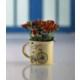 Gold Case Seramik Baskılı Sarı Kupa Saksılı Çiçek Demeti Kırmızı Bymst132