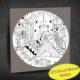 Duvar Tasarım 1043 Led Işıklı Mandala Boyanabilir Kanvas Tablo (Kalem Hediyeli) - 35x35 cm