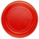 Parti Şöleni Kırmızı Plastik Tabak 25 Adet