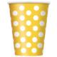 Parti Şöleni Sarı Puanlı Bardak 8 Adet