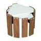 EvdemoAe-1036 Vezir Zigon Sehpa Ceviz-Beyaz