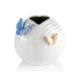 Porio M66-102 - Kelebekli Beyaz Vazo 12Cm