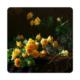 Fotografyabaskı Sarı Laleler Bardak Altlığı Baskı 4'lü Set