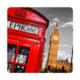 Fotografyabaskı Telefon Kulübesi - Londra Bardak Altlığı Baskı 4'lü Set