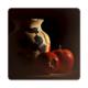 Fotografyabaskı Vazo ve Elma Bardak Altlığı Baskı 4'lü Set