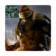 Fotografyabaskı Bardak Altlığı Baskı 4'lü Set Ninja Kaplumbağalar Michelangelo