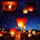 Vip Gökyüzüne Bırakılan Dilek Feneri Turuncu Renk 1 Adet