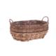 Bacbac Hasır Oval Sepet Koyu Kahverengi Orta