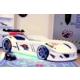 Setay Jaguar Arabalı Yatak Full Ledli Beyaz