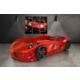 Setay Jaguar Arabalı Yatak Kırmızı