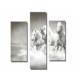 Dekor Sevgisi 3 Parçalı Beyaz Atlar Tablosu 80x80 cm