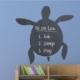 Decor Desing Kaplumbağa Yazılabilir Sticker Ys43