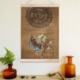 Decor Desing Askılı Deri Duvar Posteri Hak127