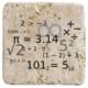 XukX Dizayn Matematik Bardak Altlığı