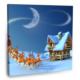 Fotografyabaskı Noel Baba Ve Geyikler Tablosu 70 Cm X 70 Cm Kanvas Tablo Baskı