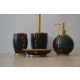 Giz Home Divone Banyo Seti - Siyah/Altın