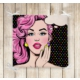 RealHomes Pop Art Resimli Dekoratif Kare Sandalye Minderi