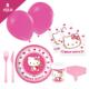 KullanAtMarket Hello Kitty Kalpler Parti Seti 8 Kişilik - 97 Adet