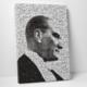 Mozaik Resim Siyah Beyaz Atatürk Mozaik Tablo