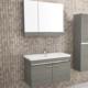 Petek Prımo 80Cm Banyo Dolabı Alt Modül Antrasit Meşe