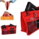 Pratik Bölmeli Çanta İçi Düzenleyici Kırmızı