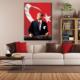 Tablom Bayraklı Atatürk Kanvas Tablo